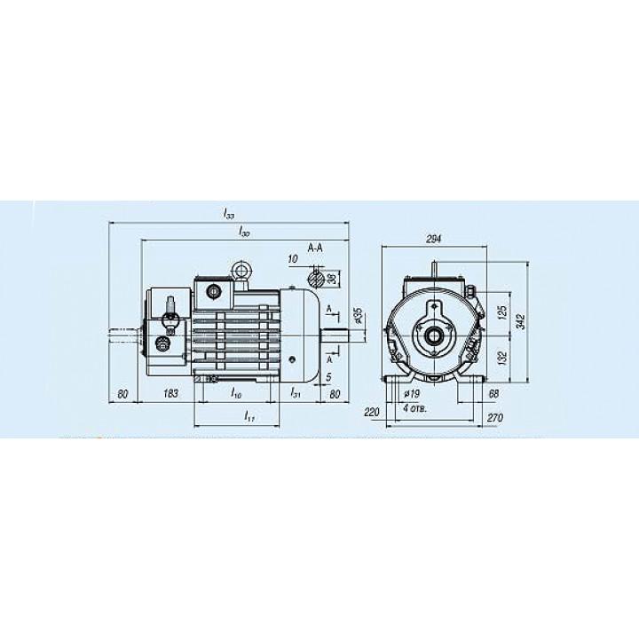 Электродвигатель MTF 111-6 — (F) 3,5 кВт - MTF 111-6 — (F)