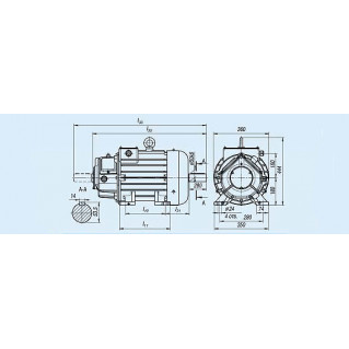 Электродвигатель MTH 312-8 — (H) 11 кВт