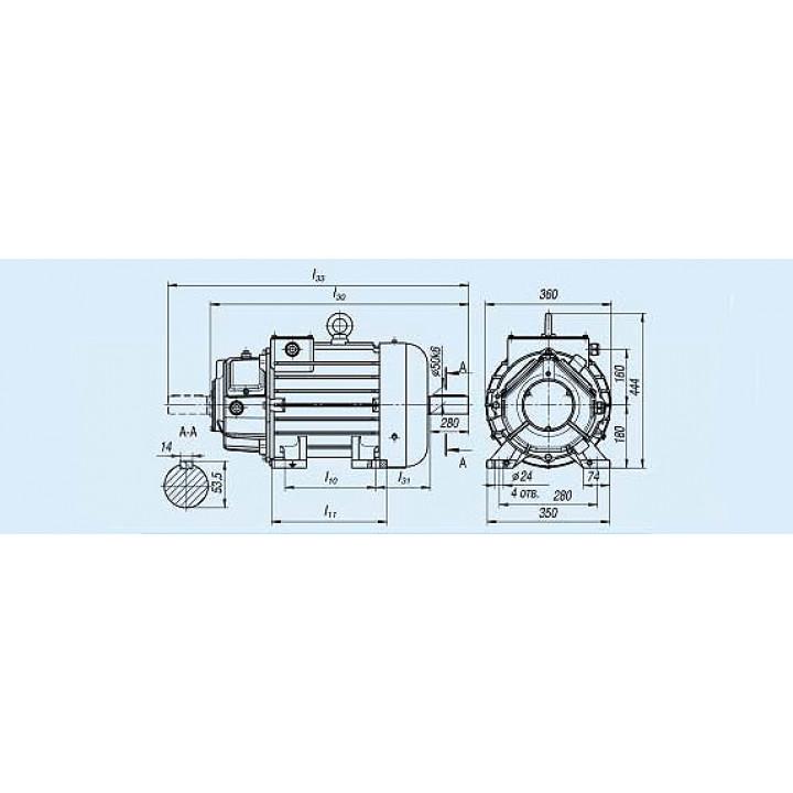 Электродвигатель MTH 311-6 — (H) 11 кВт - MTH 311-6 — (H)