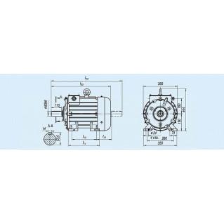Электродвигатель MTKF 312-8 — (F) 11 кВт