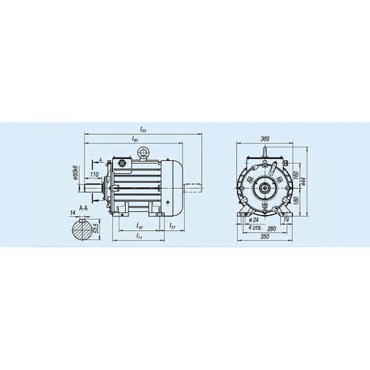 Электродвигатель MTKH 311-8 — (H) 7,5 кВт - MTKH 311-8 — (H)