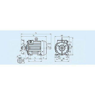 Электродвигатель MTKF 411-8 — (F) 15 кВт