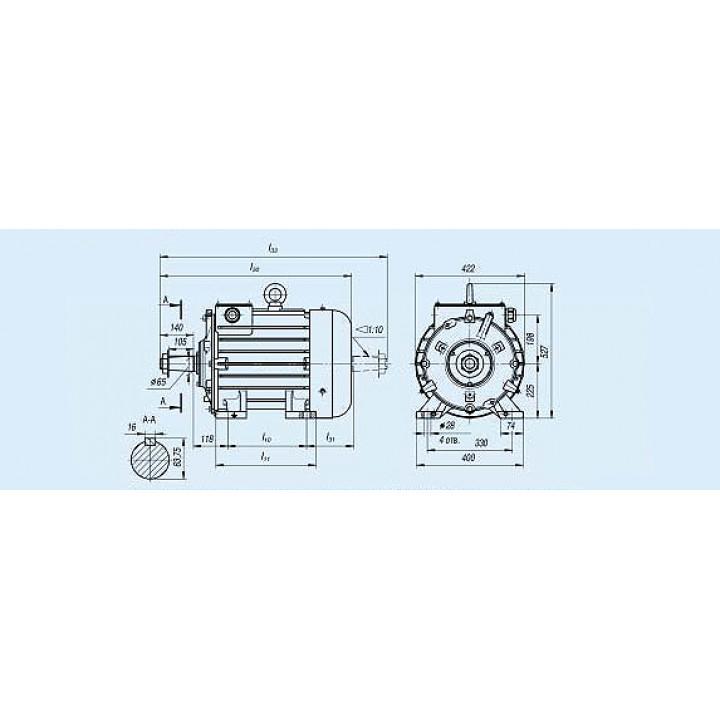 Электродвигатель MTKF 412-6 — (F) 30 кВт - MTKF 412-6 — (F)