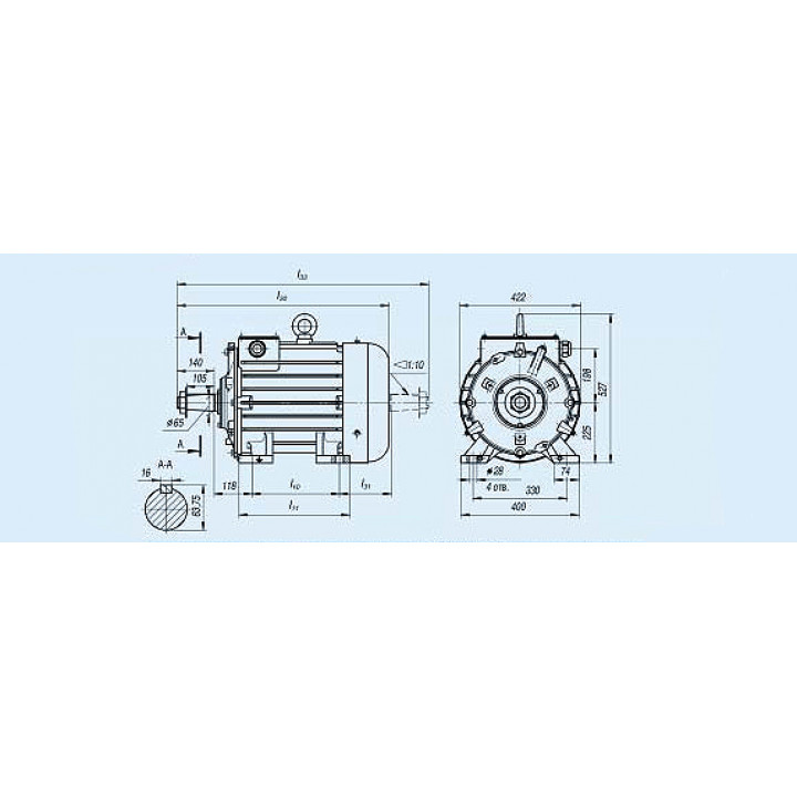 Электродвигатель MTF 411-6 — (F) 22 кВт - MTF 411-6 — (F)