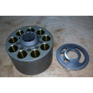 Блок цилиндров и распределитель левый для гидравлического насоса K5V80