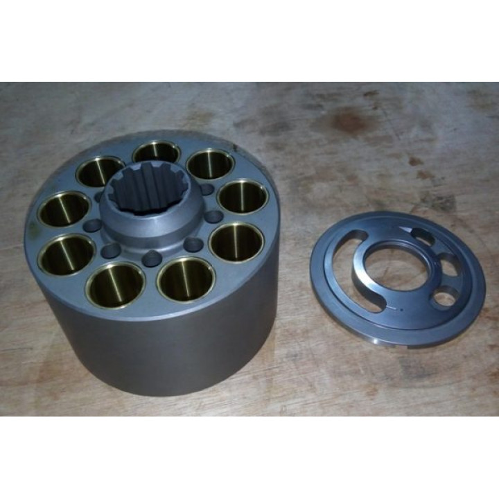 Блок цилиндров и распределитель правый для гидравлического насоса K5V80 -
