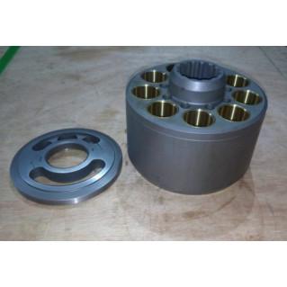 Блок цилиндров с распределителем для гидравлического насоса K5V80
