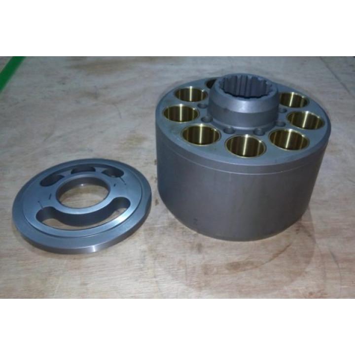 Блок цилиндров с распределителем для гидравлического насоса K5V80 -